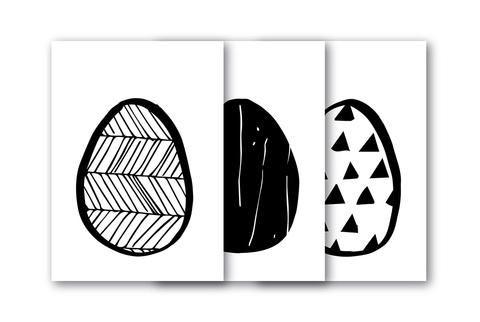3 POSTCARDS - EI EI EI Osterkarten - spoon. cards -