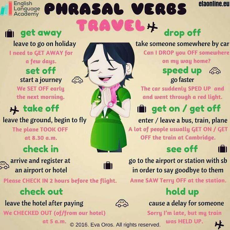 TRAVEL relevant Phrasal Verbs                                                                                                                                                                                 More