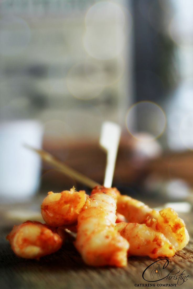 Delicious Prawn Skewers www.christinecatering.com