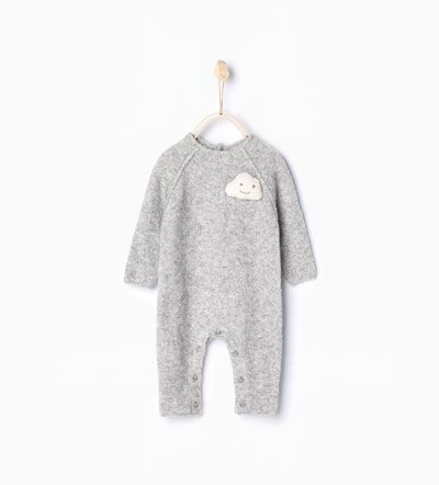 Image 1 of Cloud knit sleepsuit from Zara