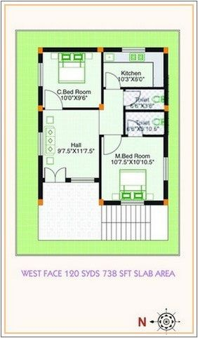 West Facing Small House Plan Google Search West Facing