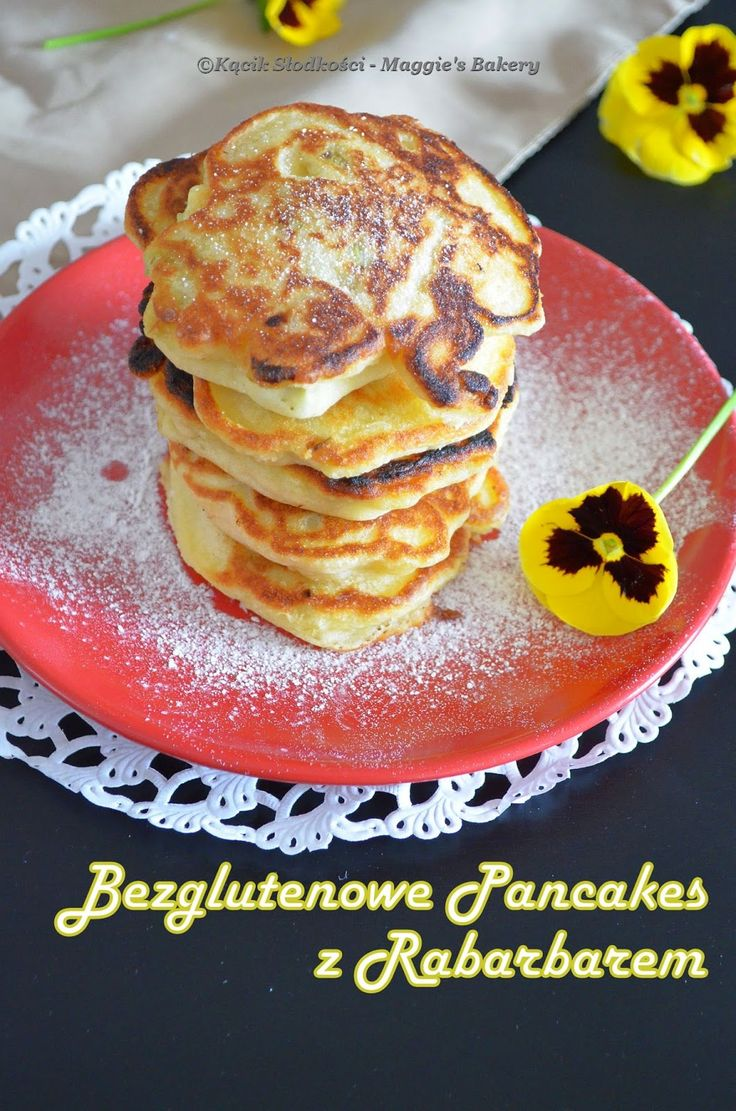 Kącik Słodkości: Bezglutenowe Pancakes z Rabarbarem (Racuchy)
