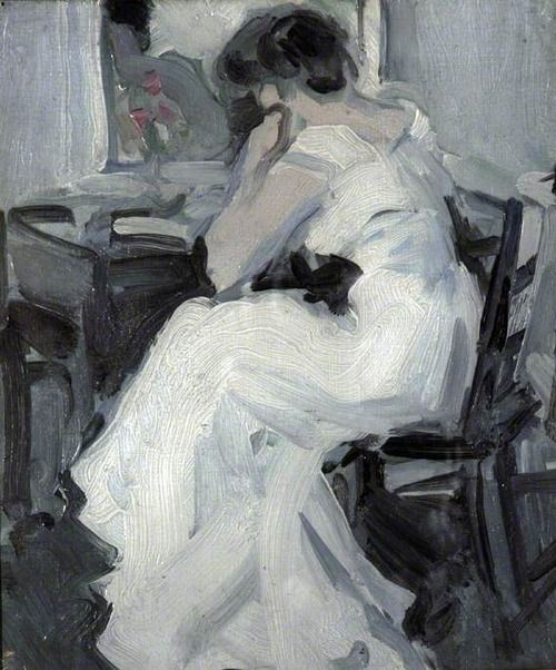 thorsteinulf: John Duncan Fergusson - A Lady in White
