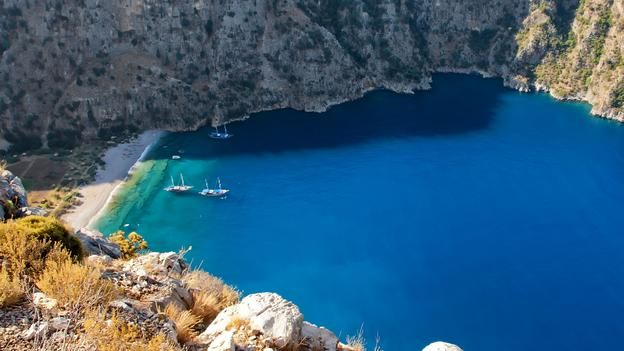White beaches and tranquil seas, Butterfly Valley, Turkey (Credit: Paul Biris/Getty)