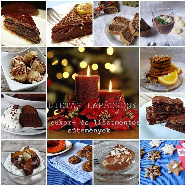 Vöröskaktusz diétázik: Diétás Karácsony (cukor és lisztmentes sütiválogatás) Receptek: http://voroskaktuszdietazik.blogspot.hu/2015/12/dietas-karacsony-cukor-es-lisztmentes.html