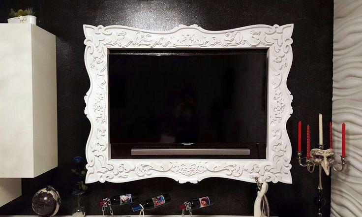 Cornice TV su misura per TV LED in vendita su www.materik.it #cornicetv #cornicitv #cornicipertelevisori