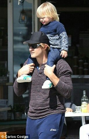 Shane watson with his son