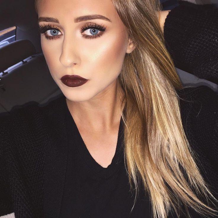 """""""Brown lips are my fave This is 'Antique Velvet' by Mac. Lashes are @zurelalashes 'Miss Hathaway' they officially Launch in November go check them out!"""""""