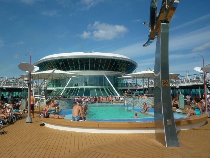 Pool Deck on board Royal Caribbean's Vision of the Seas.