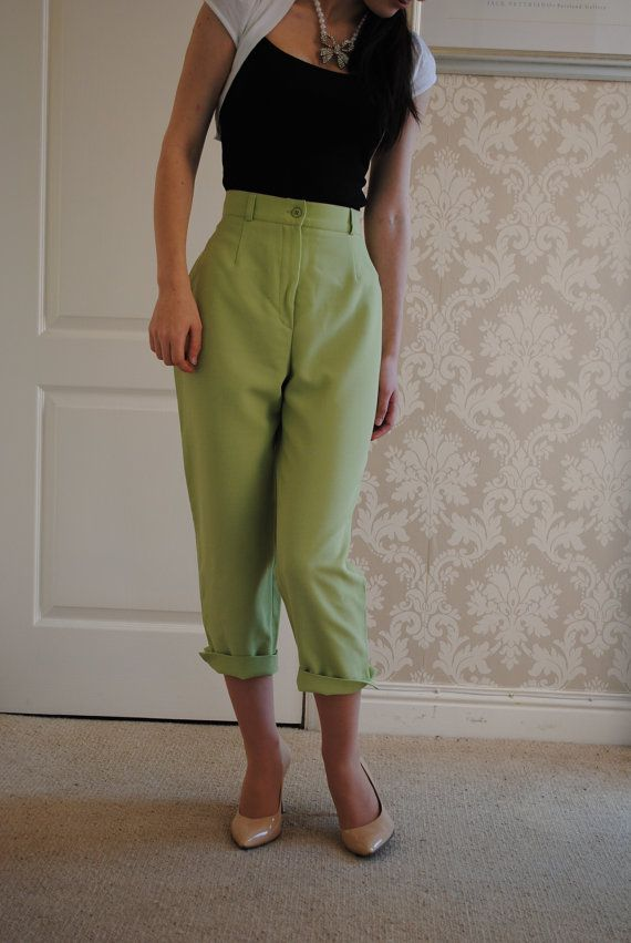 vintage+peddle+pushers | Vintage 1950's Style Pedal Pushers - Capri Pants - Short Trousers in ...