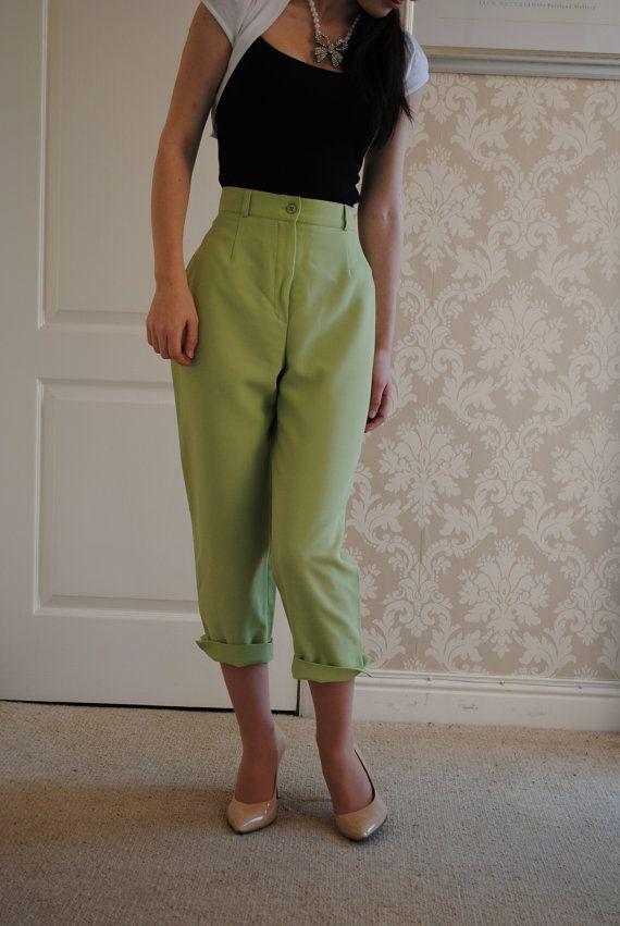 vintage+peddle+pushers   Vintage 1950's Style Pedal Pushers - Capri Pants - Short Trousers in ...