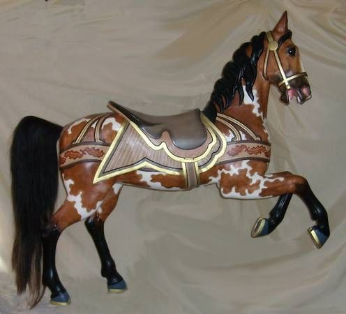 Dentzel prancer, 1910-20 seen on Craigslist, $8000 | Carousel horses