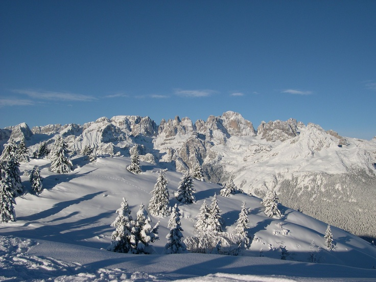 Paganella Mountain Winter View