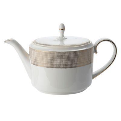 Vera Wang Wedgwood White 'Gilded Weave' tea pot- at Debenhams.com