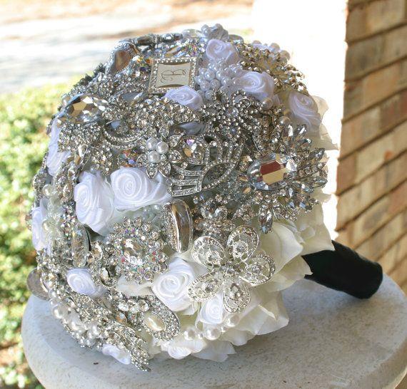 Brooch wedding bouquet  #timelesstreasure