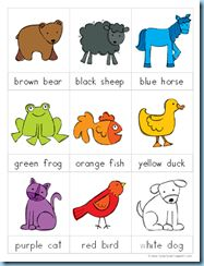 UPDATED 'Brown bear, brown bear' printables.