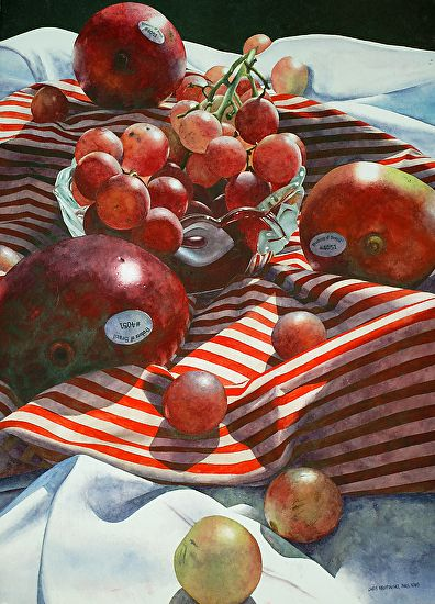 Chris Krupinski | WATERCOLOR | Mangoes and Grapes