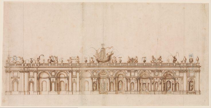 Projekt fontanny w Villi Aldobrandini we Frascati – Giovanni Guerra, 1600, The Metropolitan Museum of Art, Nowy Jork. Kunsztowne urządzenia wodne powstawały również dzięki ponownemu przestudiowaniu dzieł Archimedesa, Arystotelesa, czy Herona z Aleksandii, którzy stworzyli traktaty o inżynierii wodnej. Renesansowi wynalazcy dokonali jednak ogromnego postępu projektując np. organy wodne, fontanny z ruchomymi posągami, czy imitującymi dźwięk dział artyleryjskich.