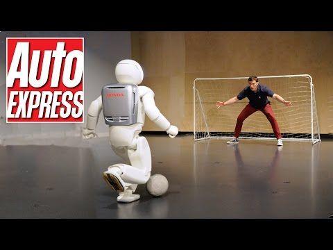 Honda's Asimo: the penalty-taking, bar-tending robot - YouTube