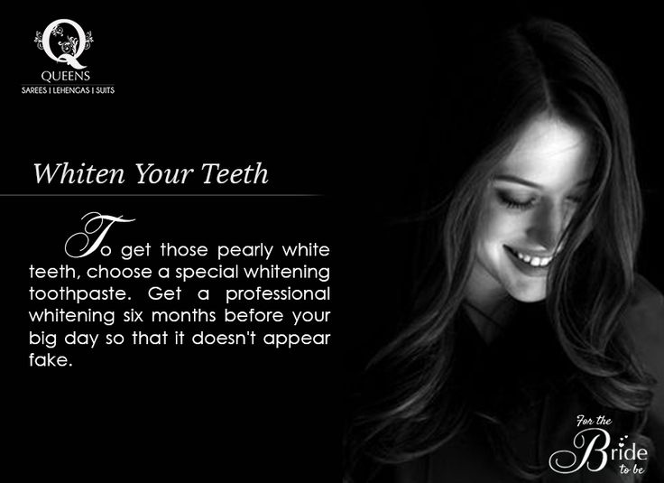 Get your teeth professionally whitened. Don't go overboard. Anything that looks too artificial becomes too prominent in a picture. #QueensEmporium #mumbai #bridestobe #teeth #teethwhitening