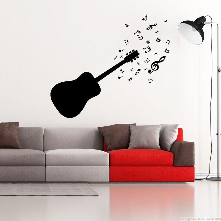 Sticker Guitare et notes de musique – Stickers Musique & Cinema Musique - Ambiance-sticker