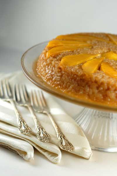 gluten free sticky rice cake.... sounds interesting