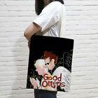 Good Omens Harajuku Handbag Tote Bag Shopping Bag Canvas Anime Zipper 24 Designs…
