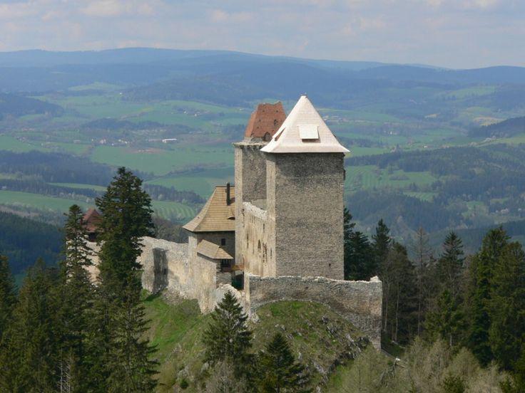 Kašperk,hrad,architektura,Kašperské hory,historie,zlato,Karel IV.