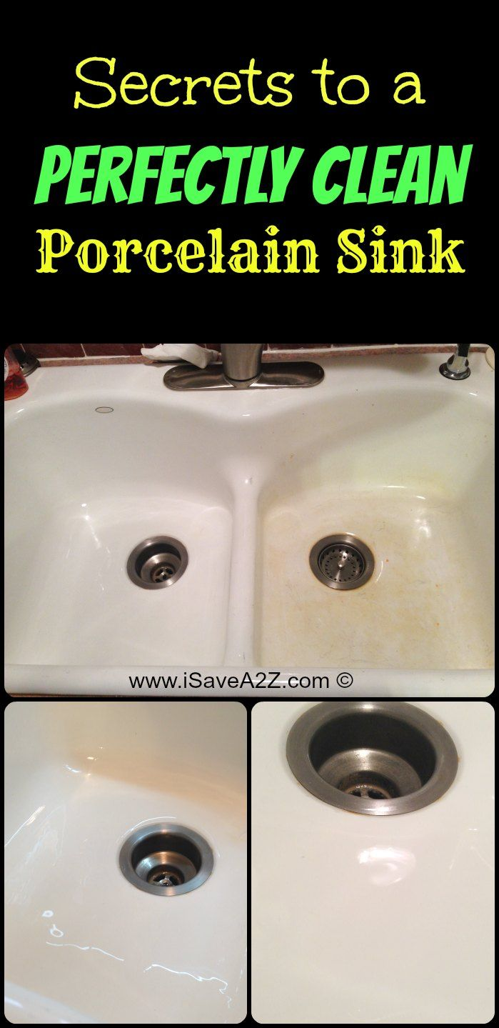 How to Remove Stains from a Porcelain Sink - iSaveA2Z.com