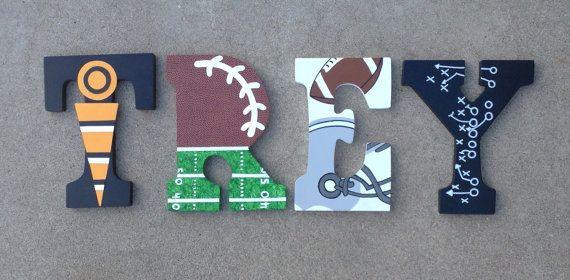 Sports en bois lettres  initiales de lettre Sport bois