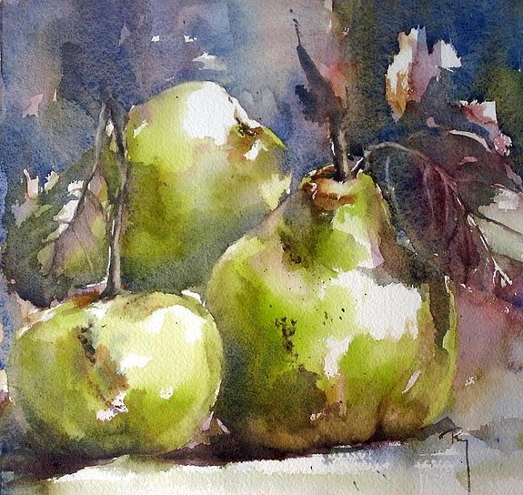 Les coings de la rue… Catherine Rey #watercolor jd
