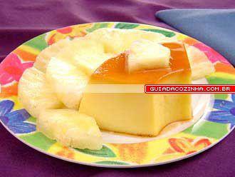 Receita de Pudim de abacaxi