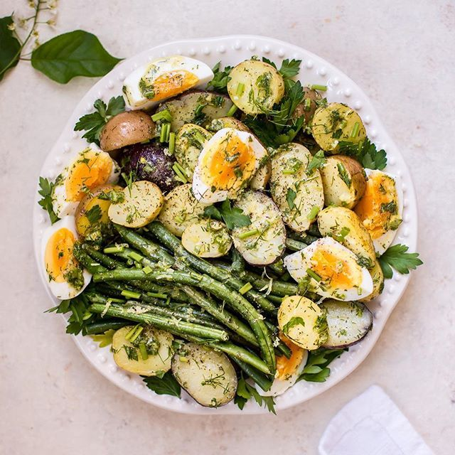 My potato and green bean salad with eggs and a lemon-herb vinaigrette is a healthy, flavor-packed alternative to mayo-heavy potato salads.