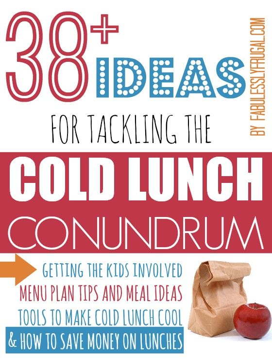 Tips and Ideas for Making Cold Lunches Easy and Cool {From a Mother of almost 8} | Fabulessly Frugal