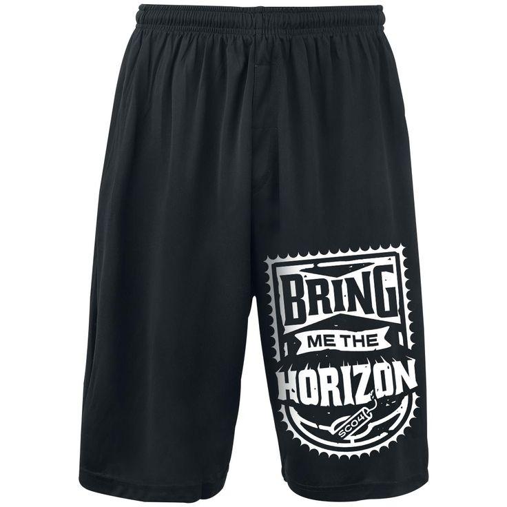 """Pantaloncini uomo neri """"Dynamite Shield"""" dei #BringMeTheHorizon."""