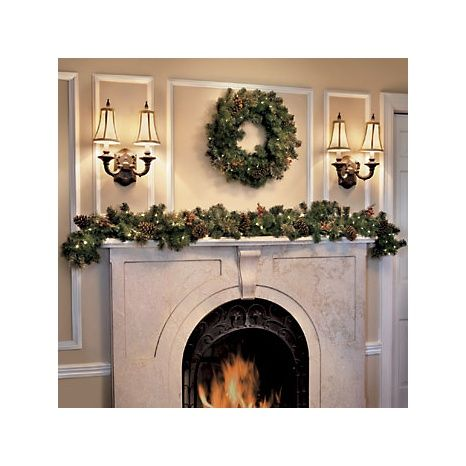 Lighted Outdoor Garland 21 best lighted garland images on pinterest light garland improvements indooroutdoor lighted christmas garland workwithnaturefo