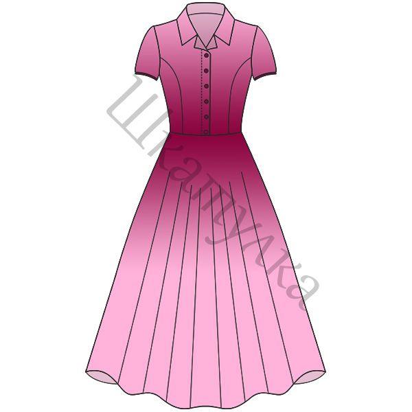 Выкройка платья в стиле нью-лук  http://materials.tell4all.ru