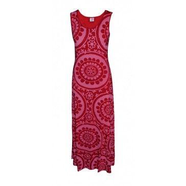 Slip Dress Suzani - Red