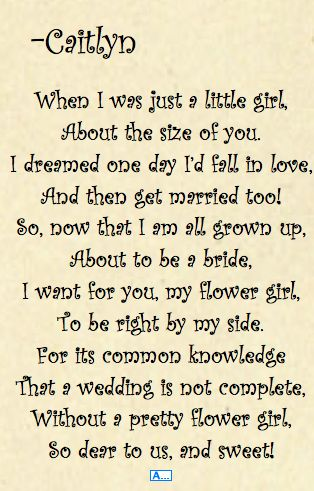 how do I ask someone to be my flower girl - Google Search
