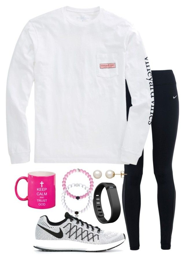 """I really love this mug"" by valerienwashington ❤ liked on Polyvore featuring NIKE, Honora, Fitbit, women's clothing, women, female, woman, misses and juniors"
