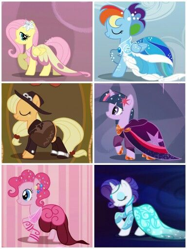 oh my god. i so wish they would dress like this....Pinkie and Rarity look amazing....