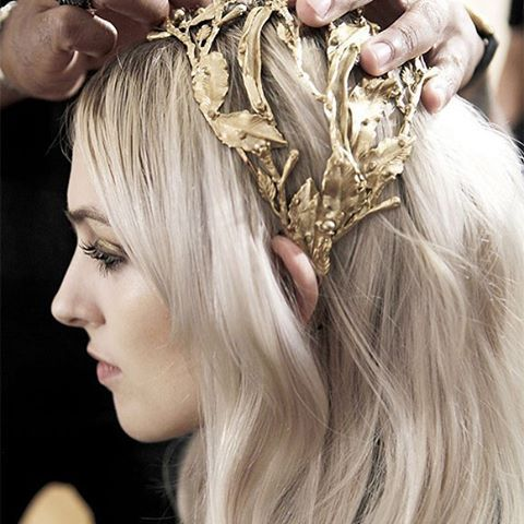 Crowned in Gold: Go tête-à-tête with the season's most distinctive accessory of elaborate golden headpieces, on #TheLightOfNow | Link in bio