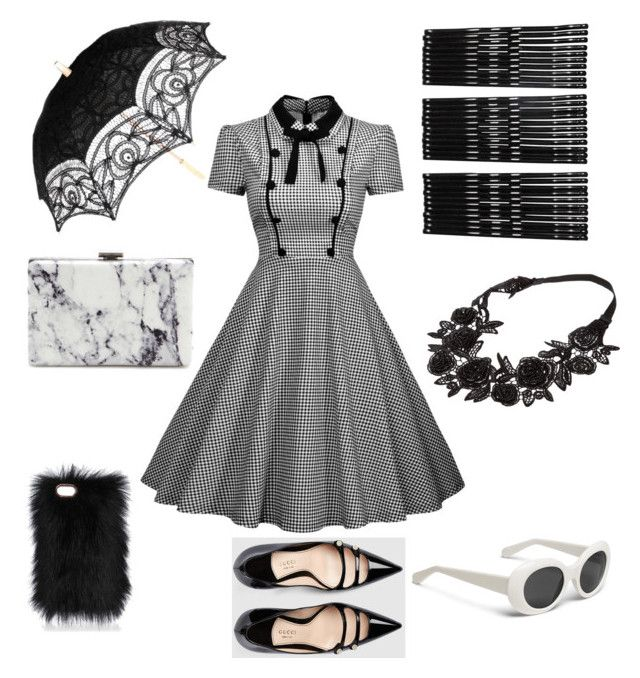 B&W forever ....! by bussybee44 on Polyvore featuring polyvore, fashion, style, Gucci, Balenciaga, Monki and clothing
