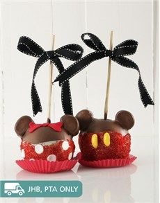 Toffee Apples: Mickey and Minnie Mouse Candy Apple Combo!