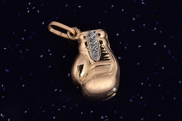 Zlatý přívěsek boxerka P022 14kt,0,65g