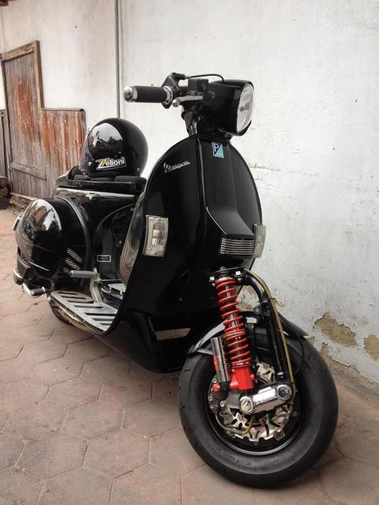 298 best vespa images on pinterest cafe racers car and for Vespa cafe racer