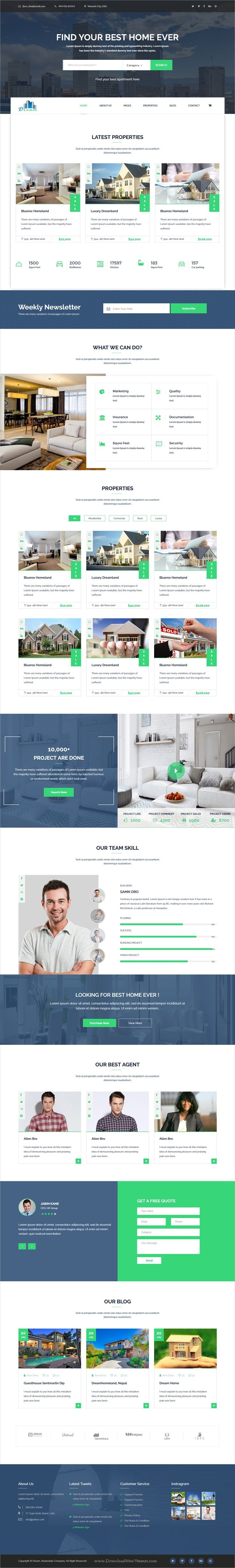 Dream is a clean and minimal design 2in1 responsive HTML #bootstrap template for single #property or real estate agencies website download now➩ https://themeforest.net/item/dream-single-property-real-estate-html-template/19599932?ref=Datasata