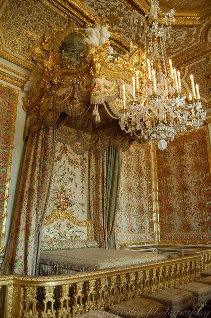 Marie Antoinette's bedroom at Versailles. Taken by me.