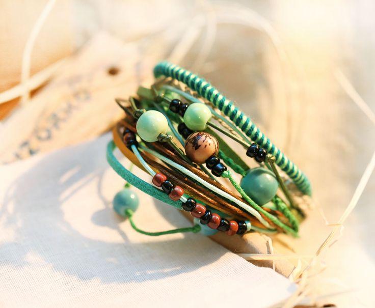 Boho bracelet Hippie bracelet Festival bracelet Beaded bracelet Colorful bracelet Yoga bracelet Multicolor bracelet Unique jewelery