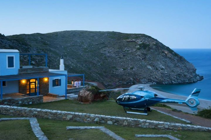 Aegea Blue Cycladic Resort- Private Helicopter Transfer to your Villa